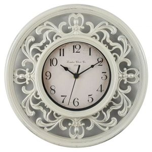 WALL CLOCK Resin FILIGREE French Provincial SHABBY CHIC 30cm