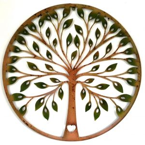 80cm Laser Cut Round TREE OF LIFE Love Heart WALL ART Hanging