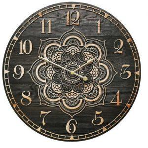 Wall Clock Mandala Buddha 58cm