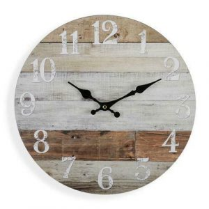 WALL CLOCK Weathered Boards 34cm