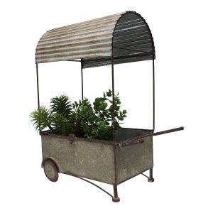 Vintage Market Flower Planter CART Wheelbarrow Garden Decor -55cm