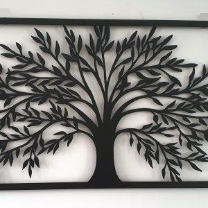 WALL ART Big 99cm TREE OF LIFE Metal Garden Wall Art
