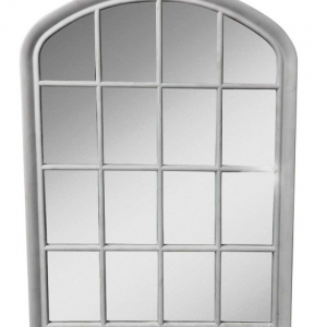 WALL MIRROR 77cm White FRENCH ARCH Window