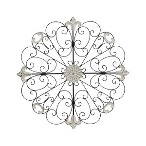 LARGE Metal WALL ART 74cm French Gothic Flower Decor Hanging